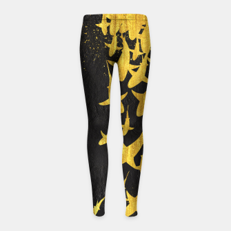 Golden Sharks Leggings para niña Bild der Miniatur