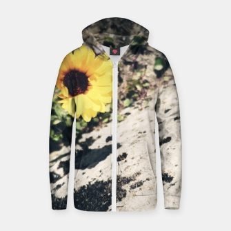 Thumbnail image of Photo Fleurs Marguerites Jaune Sweat capuche zippé , Live Heroes