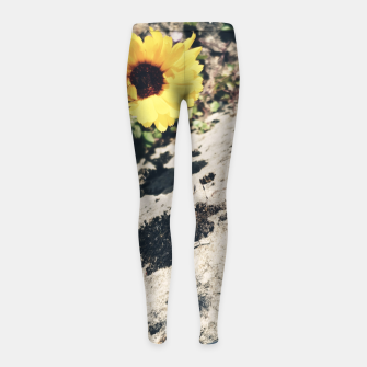Thumbnail image of Photo Fleurs Marguerites Jaune Leggings de fille, Live Heroes
