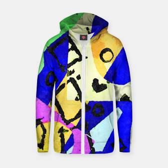 Thumbnail image of Square Field Zip up hoodie, Live Heroes