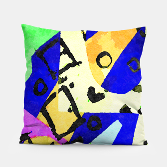 Thumbnail image of Square Field Pillow, Live Heroes