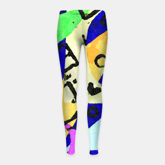 Thumbnail image of Square Field Girl's leggings, Live Heroes