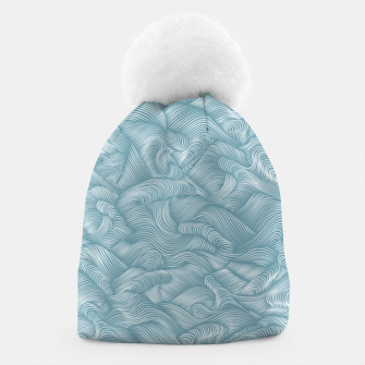 Miniatur Silky Waves of the Boundless Turmaline Sea Beanie, Live Heroes
