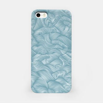 Miniatur Silky Waves of the Boundless Turmaline Sea iPhone Case, Live Heroes