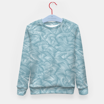 Miniatur Silky Waves of the Boundless Turmaline Sea Kid's sweater, Live Heroes