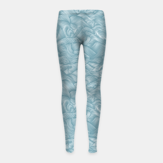 Miniatur Silky Waves of the Boundless Turmaline Sea Girl's leggings, Live Heroes