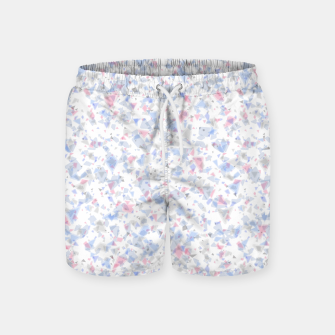 Thumbnail image of Broken marble pastel triangles white pattern light geometric shards Swim Shorts, Live Heroes