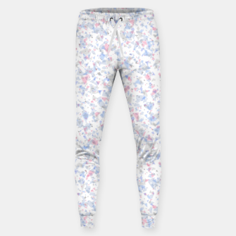 Thumbnail image of Broken marble pastel triangles white pattern light geometric shards Sweatpants, Live Heroes