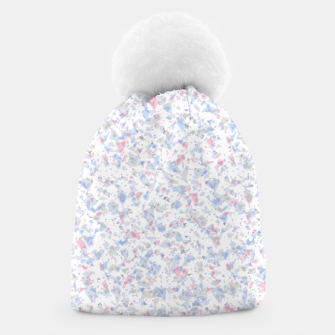 Thumbnail image of Broken marble pastel triangles white pattern light geometric shards Beanie, Live Heroes