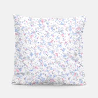 Thumbnail image of Broken marble pastel triangles white pattern light geometric shards Pillow, Live Heroes