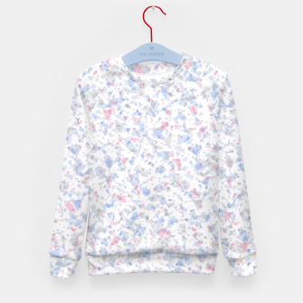 Thumbnail image of Broken marble pastel triangles white pattern light geometric shards Kid's sweater, Live Heroes