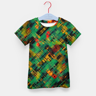 Thumbnail image of Abstract retro modern diagonal scribbles dark bottle green black orange Kid's t-shirt, Live Heroes