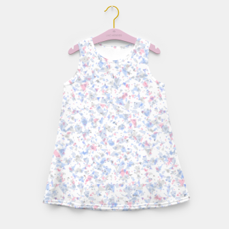 Thumbnail image of Broken marble pastel triangles white pattern light geometric shards Girl's summer dress, Live Heroes