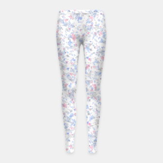 Thumbnail image of Broken marble pastel triangles white pattern light geometric shards Girl's leggings, Live Heroes