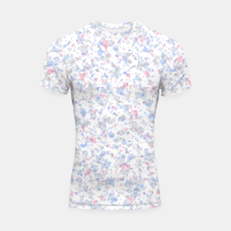 Thumbnail image of Broken marble pastel triangles white pattern light geometric shards Shortsleeve rashguard, Live Heroes