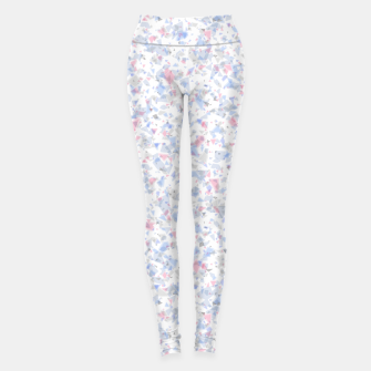 Thumbnail image of Broken marble pastel triangles white pattern light geometric shards Leggings, Live Heroes