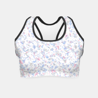 Thumbnail image of Broken marble pastel triangles white pattern light geometric shards Crop Top, Live Heroes