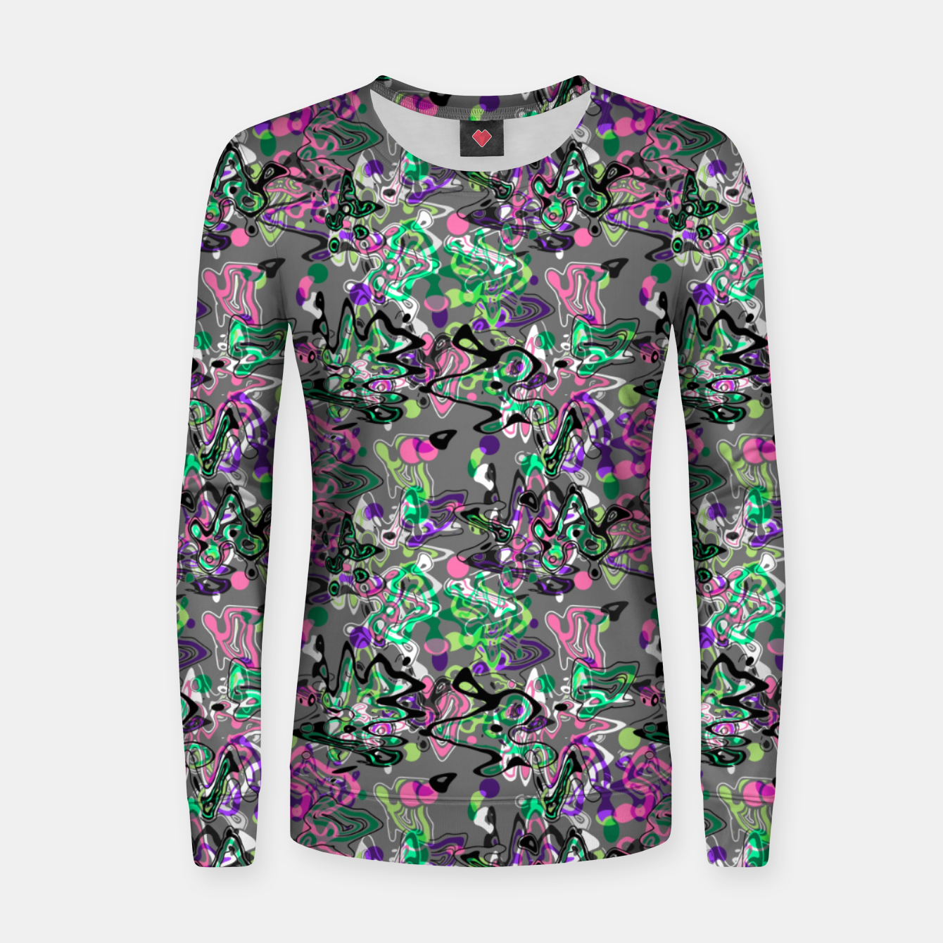Image of Abstract modern art digital Women sweater - Live Heroes