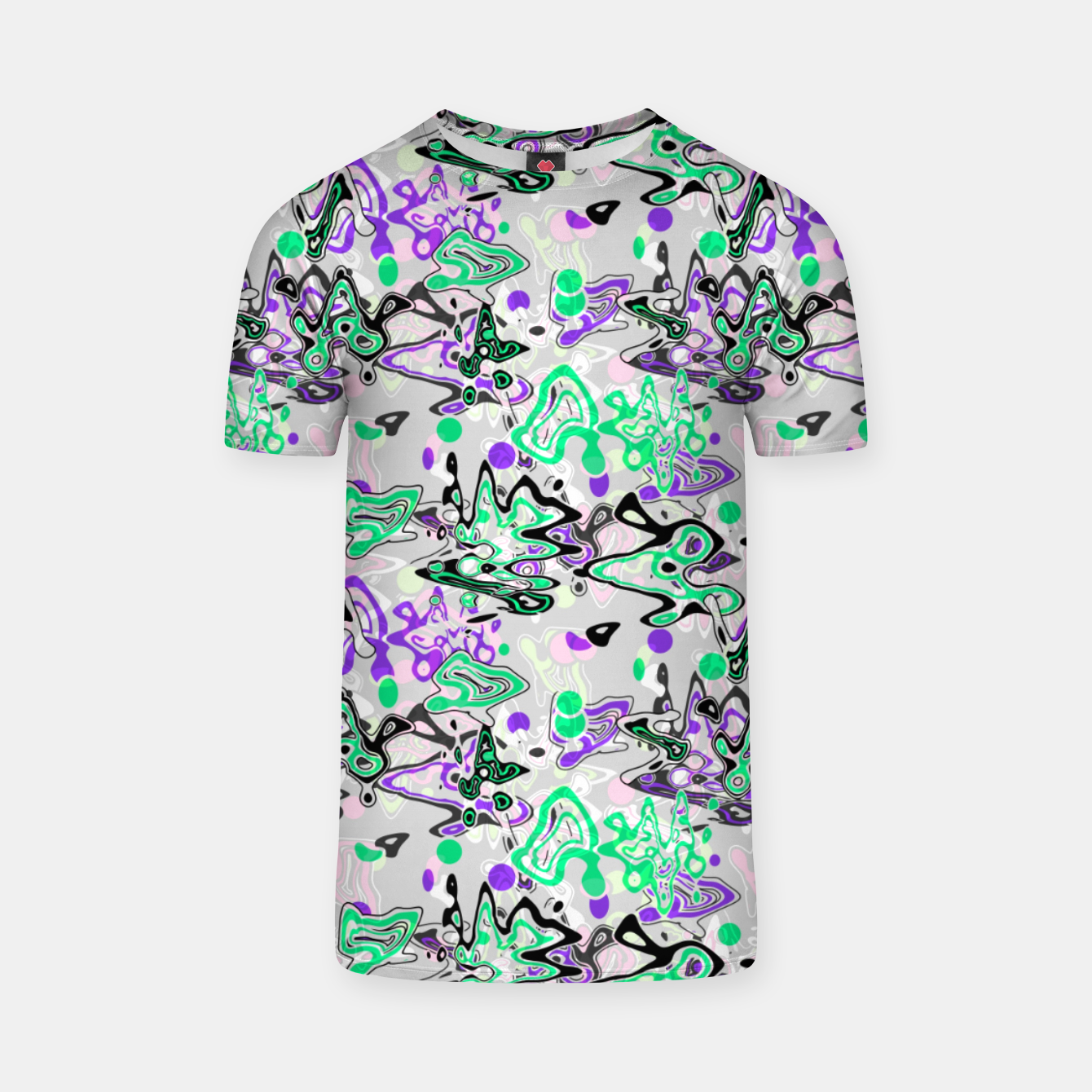 Image of Abstract modern art digital T-shirt - Live Heroes