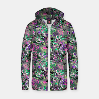 Abstract modern art digital Zip up hoodie thumbnail image