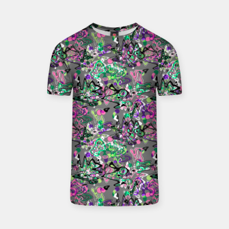 Thumbnail image of Abstract modern art digital T-shirt, Live Heroes