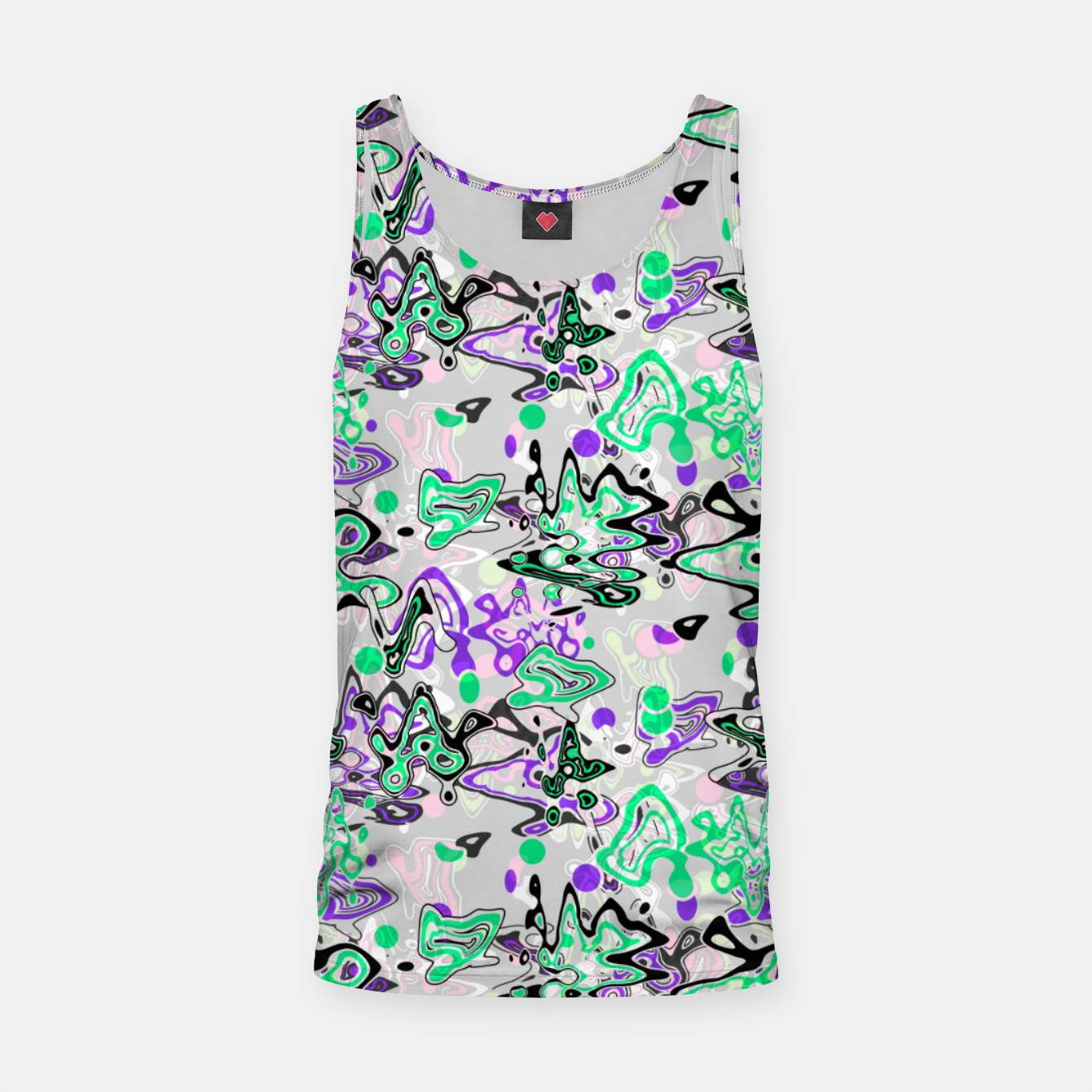 Image of Abstract modern art digital Tank Top - Live Heroes