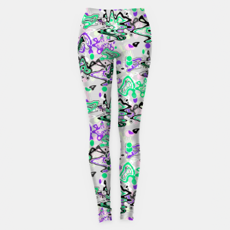 Abstract modern art digital Leggings thumbnail image