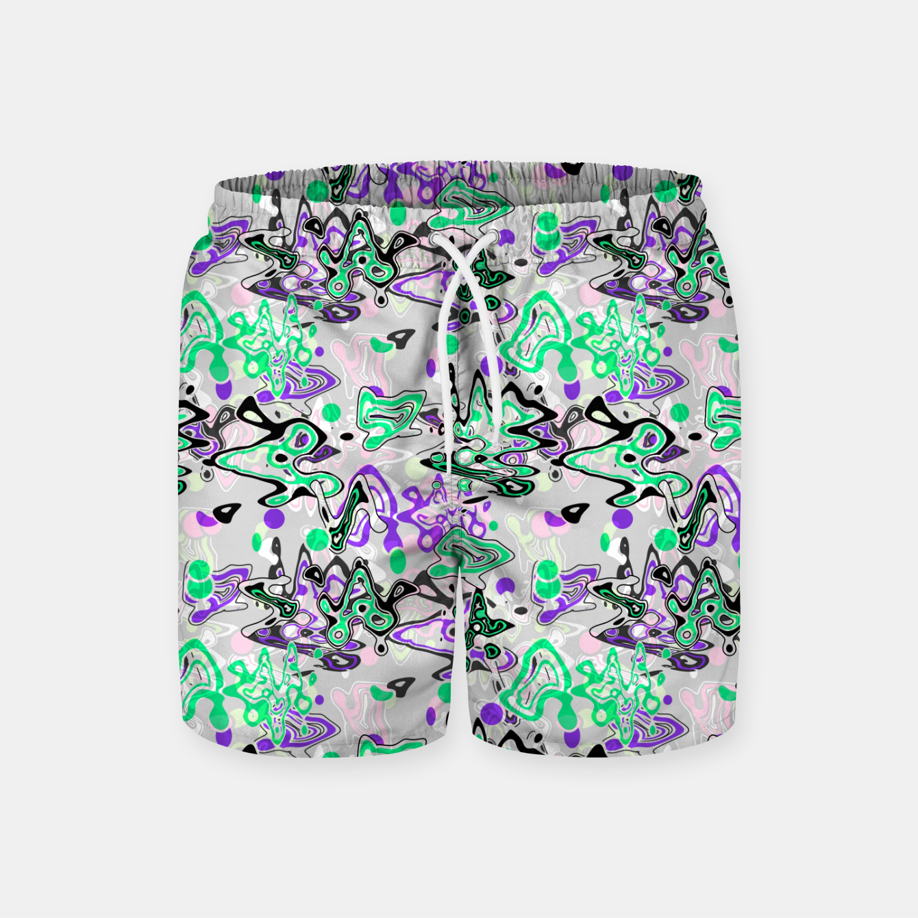 Image of Abstract modern art digital Swim Shorts - Live Heroes