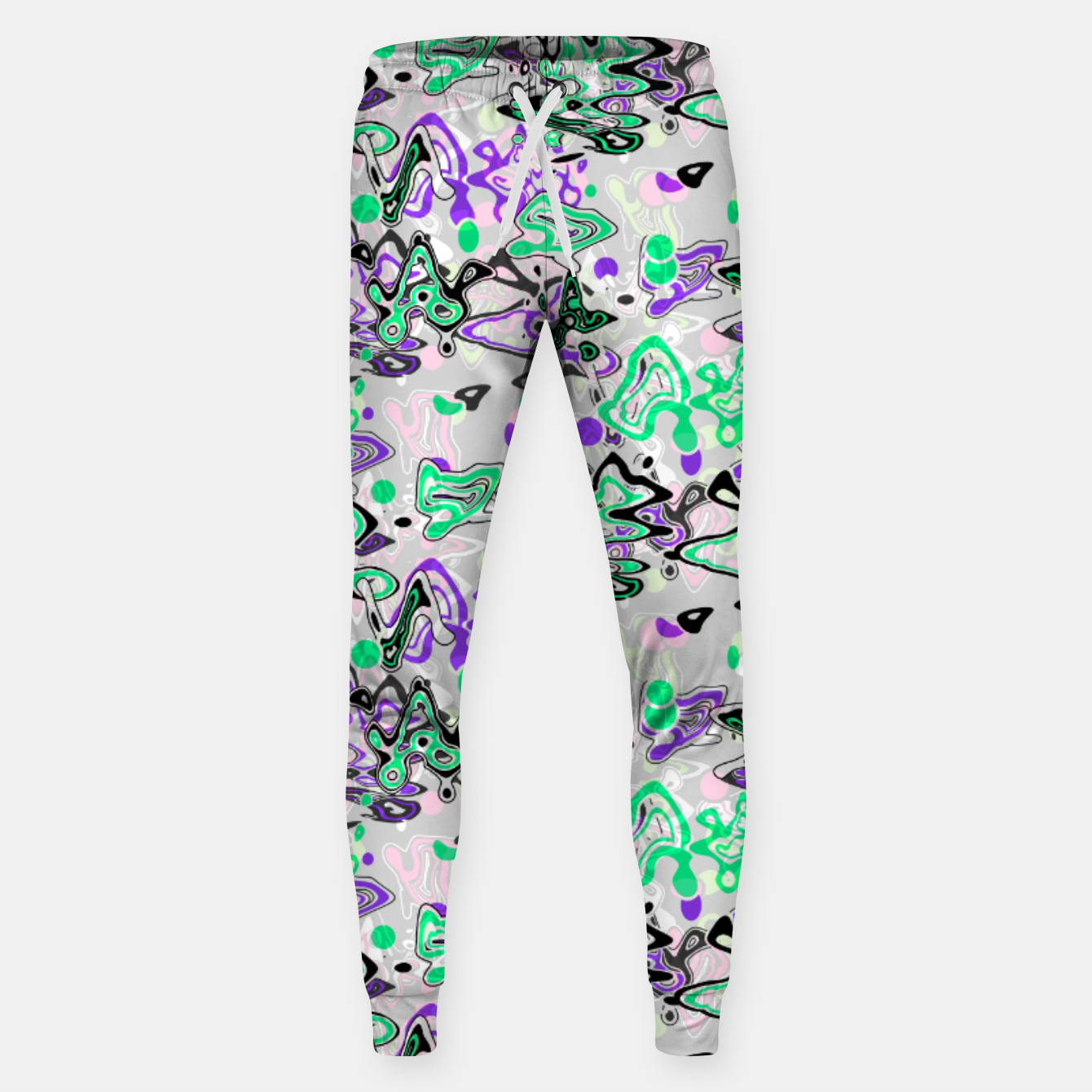 Image of Abstract modern art digital Sweatpants - Live Heroes