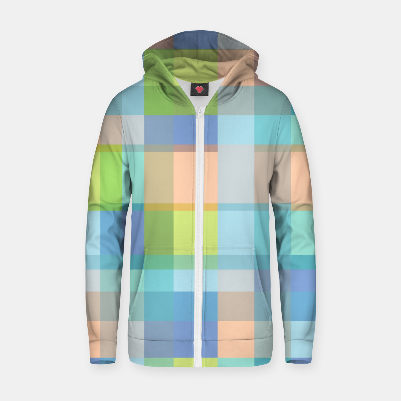 Image of zappwaits r01 Zip up hoodie - Live Heroes
