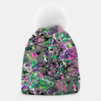 Thumbnail image of Abstract modern art digital Beanie, Live Heroes