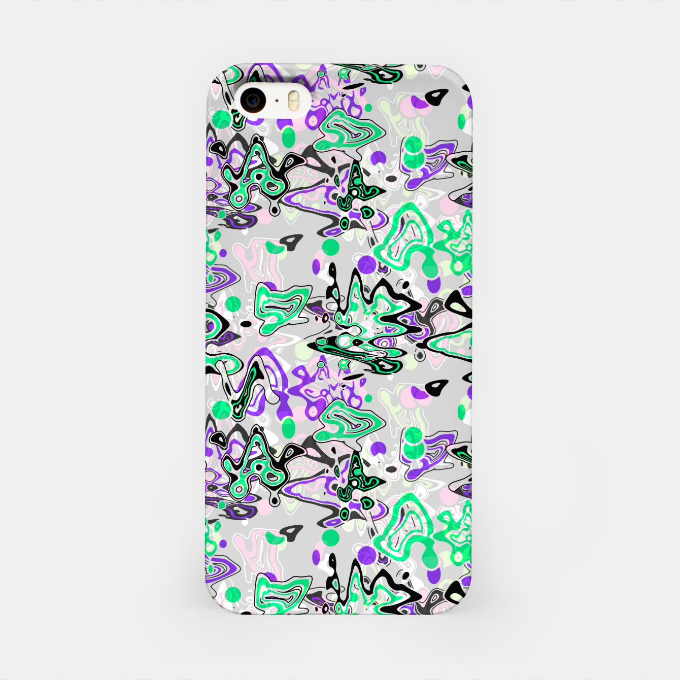 Image of Abstract modern art digital iPhone Case - Live Heroes