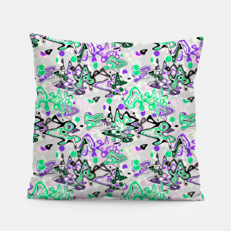 Thumbnail image of Abstract modern art digital Pillow, Live Heroes