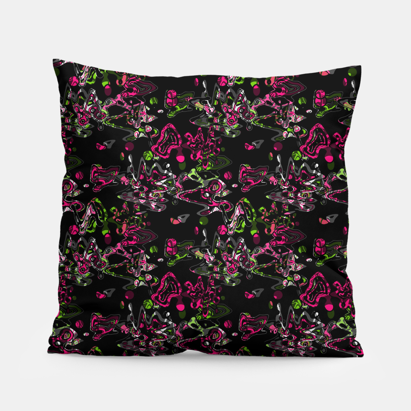 Image of Abstract modern art digital Pillow - Live Heroes