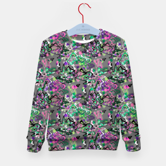 Thumbnail image of Abstract modern art digital Kid's sweater, Live Heroes