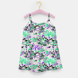 Thumbnail image of Abstract modern art digital Girl's dress, Live Heroes