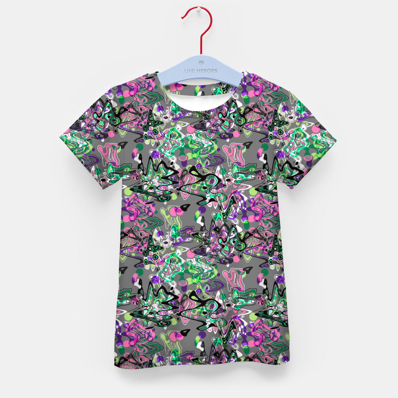 Image of Abstract modern art digital Kid's t-shirt - Live Heroes