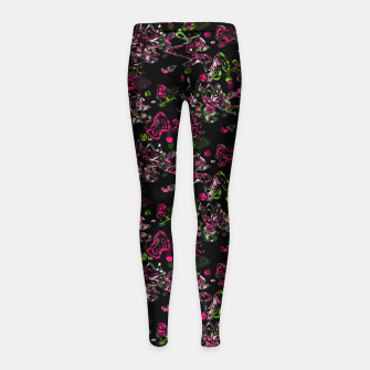 Thumbnail image of Abstract modern art digital Girl's leggings, Live Heroes