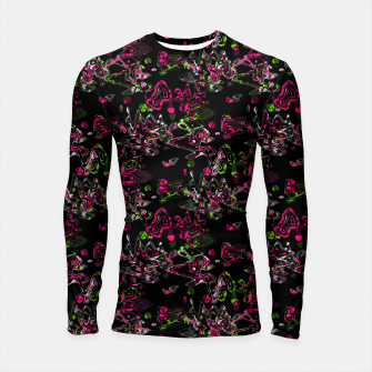 Thumbnail image of Abstract modern art digital Longsleeve rashguard , Live Heroes