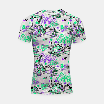Thumbnail image of Abstract modern art digital Shortsleeve rashguard, Live Heroes
