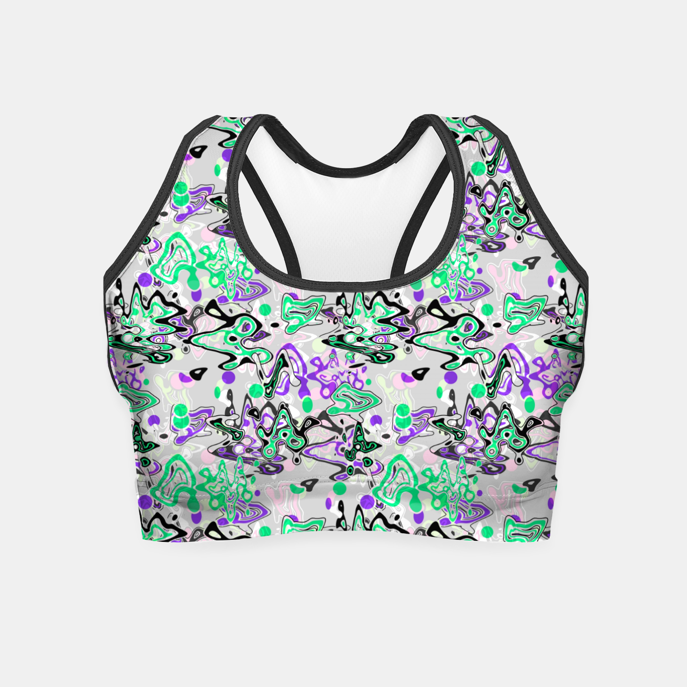 Image of Abstract modern art digital Crop Top - Live Heroes