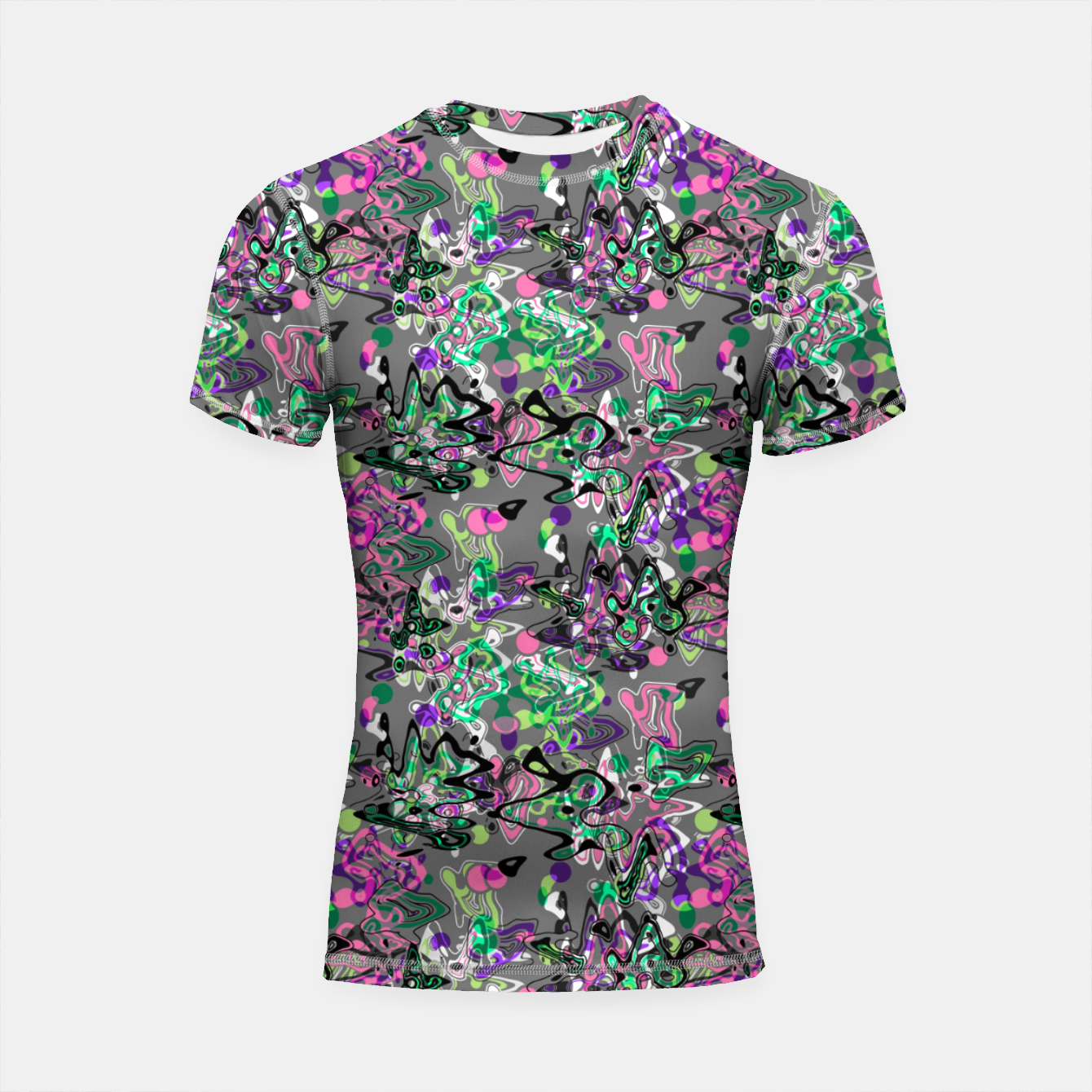 Image of Abstract modern art digital Shortsleeve rashguard - Live Heroes