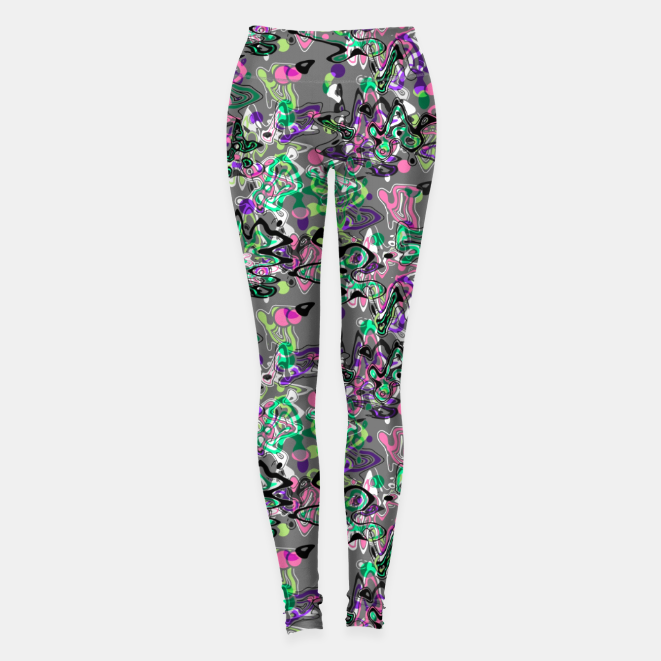 Image of Abstract modern art digital Leggings - Live Heroes