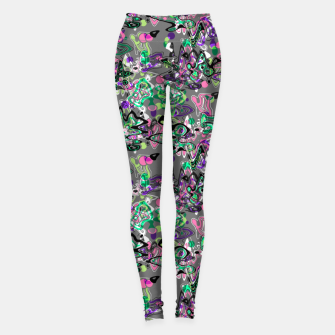 Thumbnail image of Abstract modern art digital Leggings, Live Heroes