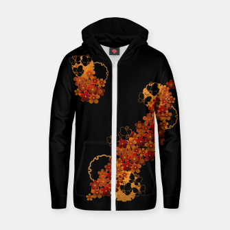 Miniatur Flower and Butterfly. Japanese traditional family crest art. Zip up hoodie, Live Heroes