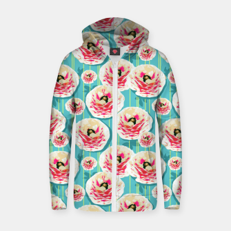 Thumbnail image of Summer Bloom II Zip up hoodie, Live Heroes