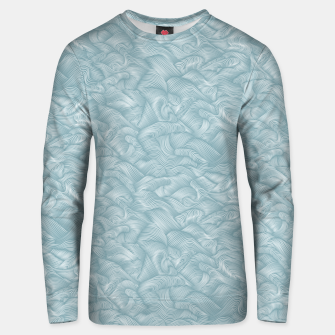 Miniatur Silky Waves of the Boundless Slate Blue Sea Unisex sweater, Live Heroes