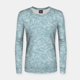 Miniatur Silky Waves of the Boundless Slate Blue Sea Women sweater, Live Heroes