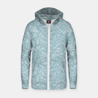 Thumbnail image of Silky Waves of the Boundless Slate Blue Sea Zip up hoodie, Live Heroes