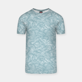 Miniatur Silky Waves of the Boundless Slate Blue Sea T-shirt, Live Heroes